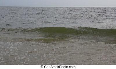 beau, bleu, grand, vagues océan, vague