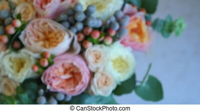 beau, bouquet, gros plan, fleurs, nuptial