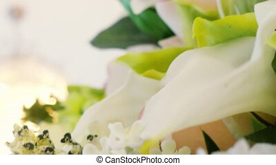beau, bouquet., mariage