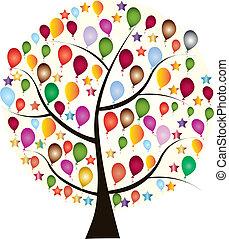 beau, colorfu, vacances, arbre