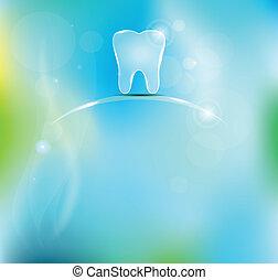 beau, dentaire, fond