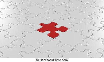 beau, droit, couleur, puzzle, mask., 3840x2160., concept., animation, tomber, place., final, rouges, 3d, uhd, business, screen., alpha, solution, vide, vert, 4k, morceau