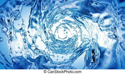 beau, eau, bleu, couleur, tourbillon
