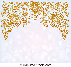 beau, essentiels, bokeh, découpé, modèle fond, floral, décoré