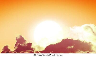 beau, fait boucle, propre, levers de soleil