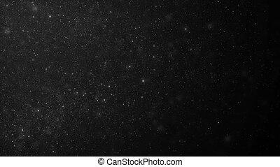 beau, fait boucle, seamless., animation., dynamique, flotter, lent, voler, particules, bokeh, noir, 3840x2160, blanc, 3d, motion., fond, poussière, hd, organique, air, 4k, ultra, barbouillage, vent