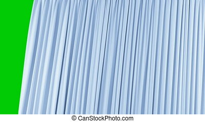 beau, fait boucle, utile, résumé, closing., unique, transitions, bleu, seamless, animation, rideau, 3d, révéler, ouverture, screen., fond, alpha, hd, masque, réaliste, vert, 4k, ultra