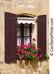 beau, fenêtre, méditerranéen