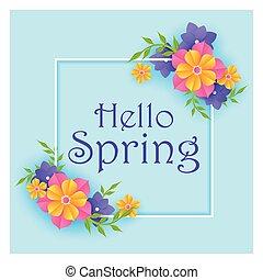 beau, floral, frais, fleur source, fond