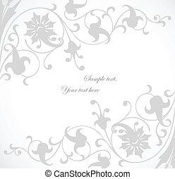 beau, floral, vecteur, fond