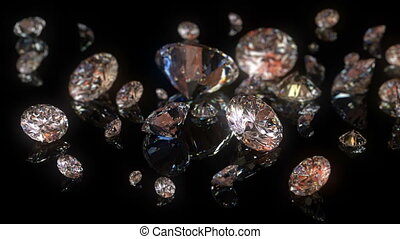 beau, fond, diamants