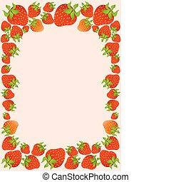 beau, fraise, juteux