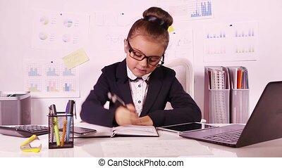 beau, girl, business, fonctionnement