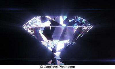 beau, gros plan, diamant, mat