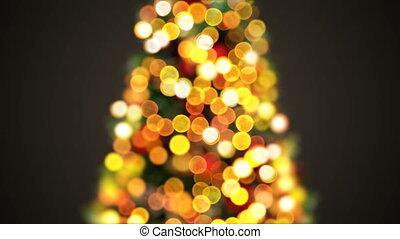 beau, joyeux, animation., defocused, année, concept., seamless, lumières, barbouillage, 3d, nouveau, noël, heureux, 3840x2160, bokeh., fond, hd, célébration, arbre, salutation, 4k, scintiller, ultra