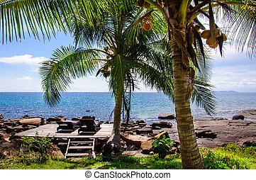 beau, koh, île, kood, exotique, thaïlande, paysage