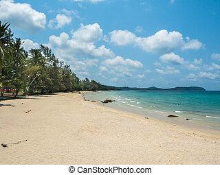 beau, koh, île, kood, plage tropicale