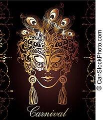 beau, lace., masque