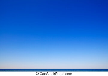 beau, marine, ciel bleu