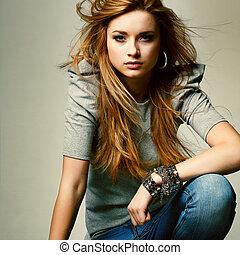 beau, mode, photo, glamur, girl, style