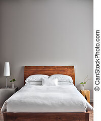beau, moderne, propre, chambre à coucher