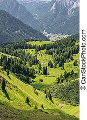 beau, montagne, alpes, paysage, colline