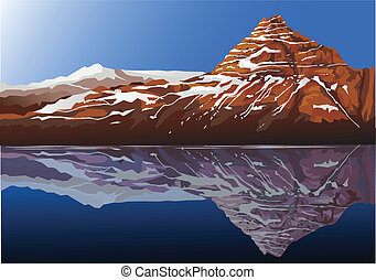 beau, montagne, fond