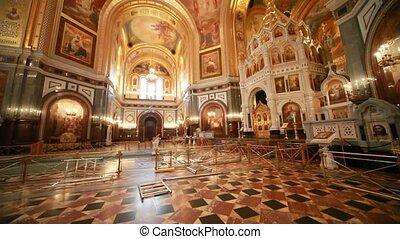 beau, orthodoxe, présentation, intérieur, toit, cathédrale