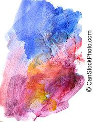 beau, palette, coloré, aquarelle, clair, retro, fond
