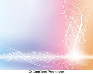 beau, pastel, étoiles, fond, swirls.