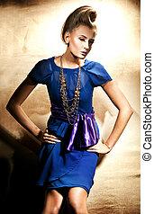 beau, photo, style, mode, blond