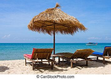 beau, plage tropicale, thaïlande