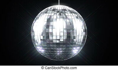 beau, rotation, balle, disco