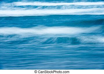 beau, scénique, orageux, ocean., waterscape.