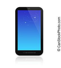 beau, smartphone, render, fond, blanc, 3d