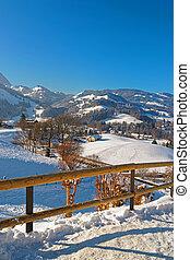 beau, suisse, paysage, montagnes