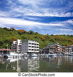 beau, taiwan, kaohsiung, vue