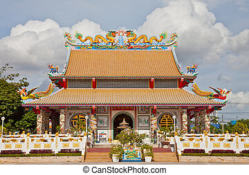 beau, temple, chinois