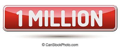 beau, text., résumé, million, -, une, bouton