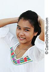 beau, thaï, girl