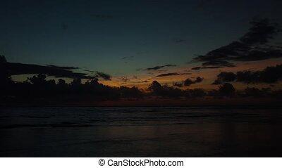 beau, timelapse, levers de soleil