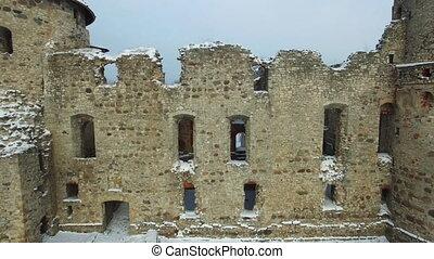 beau, ville, âges, résidence, ruines, milieu, cesis, lettonie, château, livonian, était, ordre