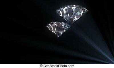 beau, voler, boucle, diamants