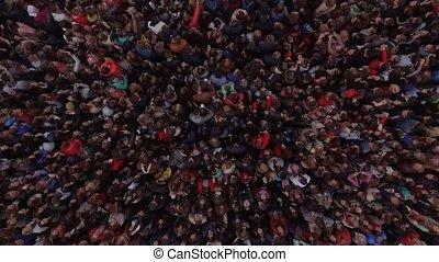 beaucoup, concert musique, bande, gens