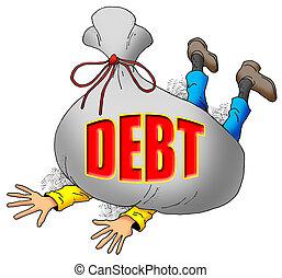 beaucoup, debt.