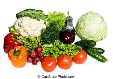 beaucoup, légumes