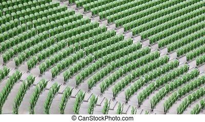 beaucoup, rangées, stadium., sièges