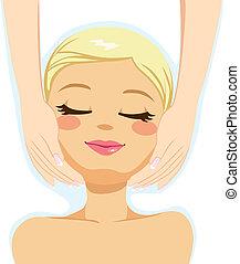beauté, massage facial