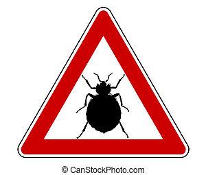 bedbug, panneau avertissement