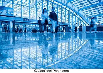 beijing, aéroport, capital, passager